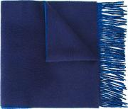 Reversible Scarf Men Cashmere One Size, Blue