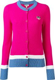 Mini Tiger Cardigan Women Cottonviscosepolyester S, Pinkpurple