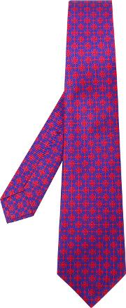 Embroidered Tie Men Cotton One Size, Blue