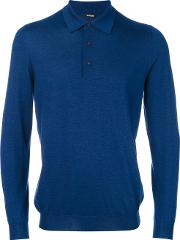Knitted Polo Shirt Men Silkcashmere