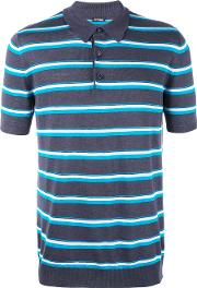 Striped Polo Shirt Men Silklinenflax Xl, Blue