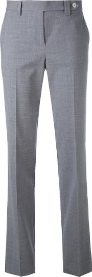 Tailored Trousers Women Spandexelastanevirgin Wool 48, Grey