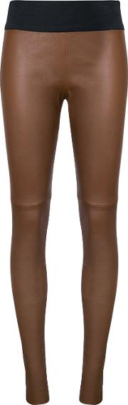 Cat Trousers Women Leather 8, Brown