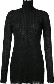 Roll Neck Blouse Women Spandexelastaneviscose 10, Black