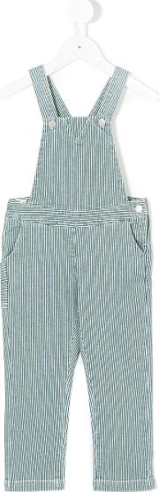 Knot Earth Striped Overalls Kids Cottonspandexelastane 6 Yrs, Grey