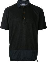 Drawstring Hem Polo Shirt Men Cottonpolyester 4