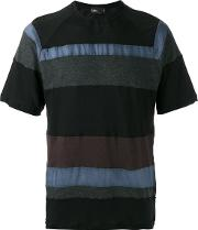 Striped T Shirt Men Cottonnyloncupro 4