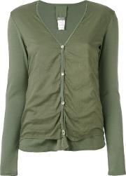 Button Up Cardigan Women Cotton 1, Green