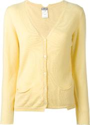 Cashmere V Neck Cardigan Women Cashmere 2, Yelloworange