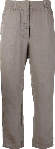 Crinkled Loose Fit Trousers Women Cottontencellinenflax 1, Nudeneutrals