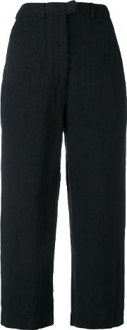 Cropped Straight Trousers Women Cottonlinenflax 1