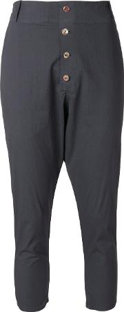 Dropped Crotch Cropped Jodphur Trousers
