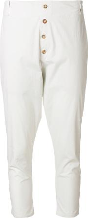 Dropped Crotch Jodphur Cropped Trousers