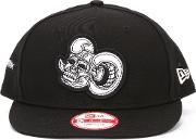 9fifty Skull Patch Snapback Unisex Cotton One Size, Black