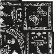 Church Print Scarf Unisex Cotton One Size, Black
