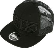 Embroidered Logo Cap Men Cottonpolyester One Size, Black