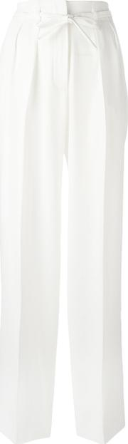 Alice Trousers Women Polyester Xs, White