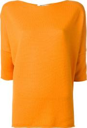 Three Quarters Sleeve Jumper Women Cashmere M, Yelloworange