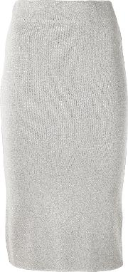 Lurex Skirt Women Polyamidepolyesterviscose 42, Grey