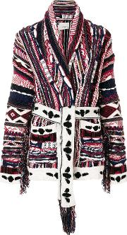 Multi Knit Belted Cardigan