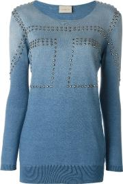 Studded Sweatshirt Women Cottonaluminium 38, Blue