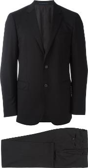 Classic Two Piece Suit Men Viscosewool 50, Black