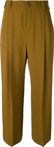 Creased Crop Trousers
