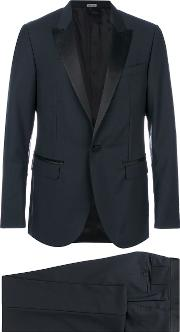 Lanvin Classic Fitted Two Piece Suit Men Silkpolyestercuprowool 52, Black