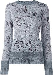 Marbled Design Jumper Women Polyamidepolyesterspandexelastaneviscose Xs, Women's, Grey