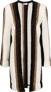 Metallic Striped Cardigan