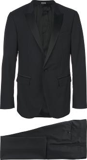Two Piece Suit Men Silkpolyesterviscosewool