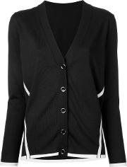 V Neck Cardigan Women Wool L, Women's, Black