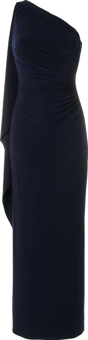 Ruched One Shoulder Gown