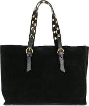 L'autre Chose Classic Tote With Gold Tone Hardware Women Suede One Size, Black