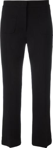 L'autre Chose Kick Flare Cropped Trousers Women Polyester 46, Black