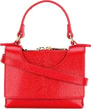 L'autre Chose Top Handle Tote Women Leather One Size, Red