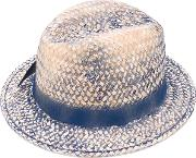 Stained Effect Woven Hat Women Cottonpaperacrylicacetate One Size, Nudeneutrals