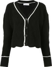 Contrast Trim Knitted Cardigan