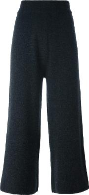 'india' Knit Trousers Women Cashmere S, Grey