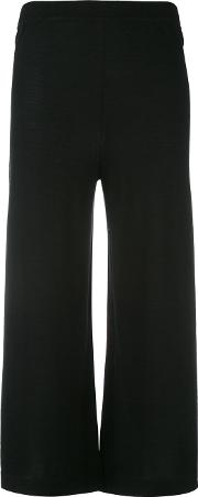 Cropped Knit Trousers Women Cashmere S, Black