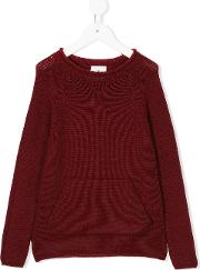 Le Petit Coco Fagiolo Knitted Sweater Kids Nylonviscosecashmerewool 3 Yrs, Pinkpurple