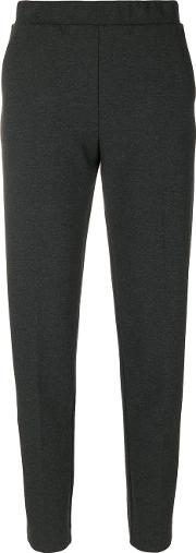 Le Tricot Perugia Tapered Crop Trousers Women Elastodienepolyamidepolyesterviscose M, Grey