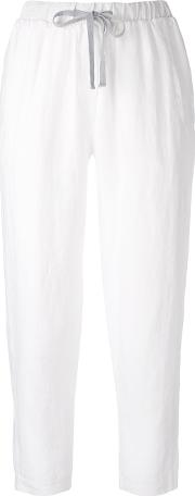 Slouch Trousers Women Linenflax 46, White