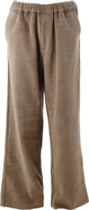 L'eclaireur 'shigoto' Straight Trousers Unisex Cottonpolyester M, Green