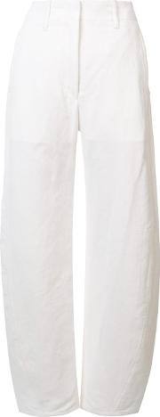'large Twisted' Trousers Women Cottonlinenflax 38, White