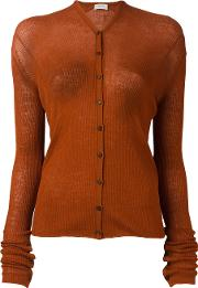 Buttoned Cardigan Women Wool S, Women's, Brown