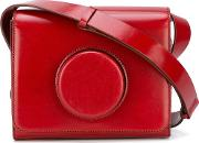 Camera Crossbody Bag Women Leather One Size, Red