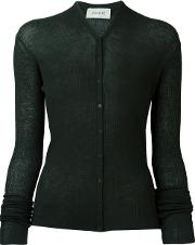 Fine Knit Cardigan Women Wool S, Women's, Green