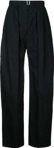 Slouch Tailored Trousers Women Cotton 38, Black