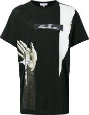Printed T Shirt Men Cotton S, Black